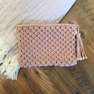 Crocheted Pink Clutch